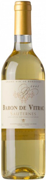 "Вино ""Baron de Vitrac"", Sauternes AOC, 2008"