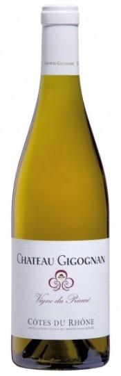 Вино Cotes du Rhone AOC Vigne du Prieure Blanc Chateau Gigognan 2009