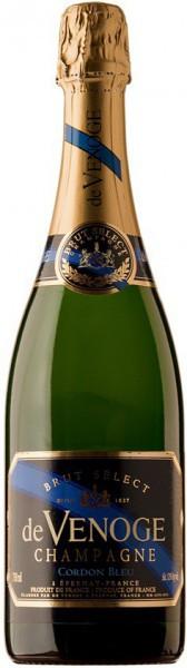 "Шампанское Champagne de Venoge, ""Cordon Bleu"" Brut Select, Champagne AOC"