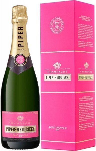 "Шампанское Piper-Heidsieck, ""Rose Sauvage"", Champagne AOC, gift box ""Wine Store"""