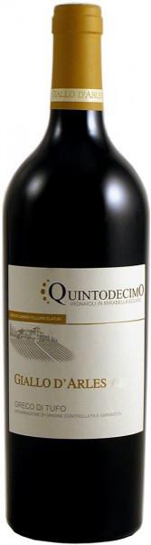 "Вино Quintodecimo, ""Giallo d'Arles"" Greco di Tufo DOCG, 2012"
