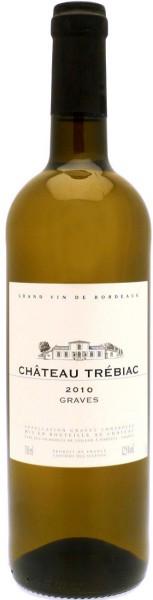 """Вино """"Chateau Trebiac"""" Blanc, Graves AOC, 2010"""