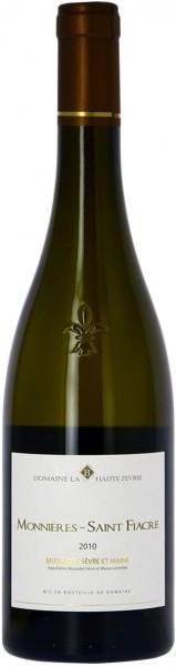 Вино Domaine La Haute Fevrie, Monnieres-Saint Fiacre, Muscadet Sevre Et Maine AOC, 2010