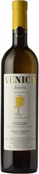 """Вино Venica & Venica, Pinot Grigio Collio DOC """"Jesera"""", 2015"""