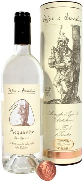 Бренди Pojer e Sandri, Acquavite di ciliegie, Dolomiti, in tube, 0.7 л