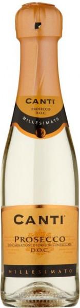 Игристое вино Canti, Prosecco, 2015, 0.2 л