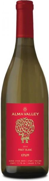 """Вино """"Alma Valley"""" Pinot Blanc, 2014"""