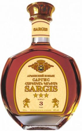 Коньяк Sargis 3 stars, 0.5 л