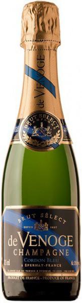 "Шампанское Champagne de Venoge, ""Cordon Bleu"" Brut Select, Champagne AOC, 0.375 л"