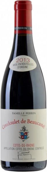 """Вино Perrin et Fils, """"Coudoulet de Beaucastel"""", Cotes-du-Rhone AOC Rouge, 2013"""