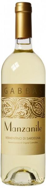 "Вино Gabbas, ""Manzanile"", Vermentino di Sardegna DOC, 2015"