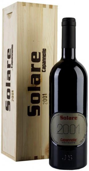 Вино Solare Vino da Tavola di Toscana Rosso IGT Sangiovese 2001, wooden box