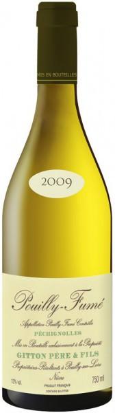 "Вино Gitton Pere & Fils, ""Pechignolles"", Pouilly-Fume AOC, 2009"