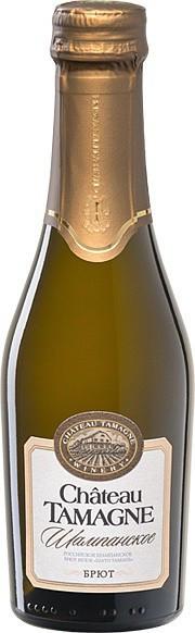 """Игристое вино """"Chateau Tamagne"""", Rossiyskoe Champagne, Brut, 0.2 л"""