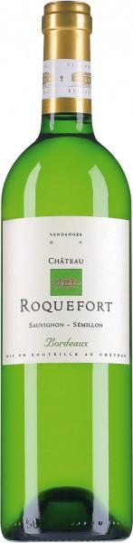 """Вино """"Chateau Roquefort"""" Blanc, Bordeaux AOC, 2014"""