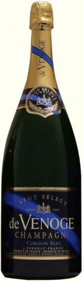 "Шампанское Champagne de Venoge, ""Cordon Bleu"" Brut Select, Champagne AOC, 1.5 л"