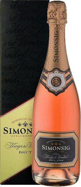 "Игристое вино Simonsig, ""Kaapse Vonkel"" Brut Rose, 2013, gift box"