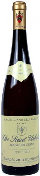 """Вино Zind-Humbrecht, Pinot Gris Rangen de Thann """"Clos Saint Urbain"""" AOC, 2001, 0.375 л"""