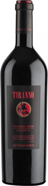 "Вино Cantine San Giorgio, ""Tiranno"" Malvasia Nera, Salento IGP, 2018"