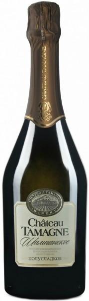 """Игристое вино """"Chateau Tamagne"""", Rossiyskoe Champagne, Semi-Sweet"""