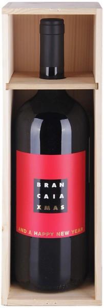 "Вино Brancaia, ""Tre"" IGT, 2011, wooden box (""Xmas""), 1.5 л"