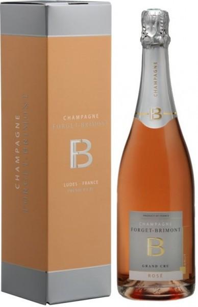 Шампанское Forget-Brimont, Brut Rose Grand Cru, Champagne AOC, gift box