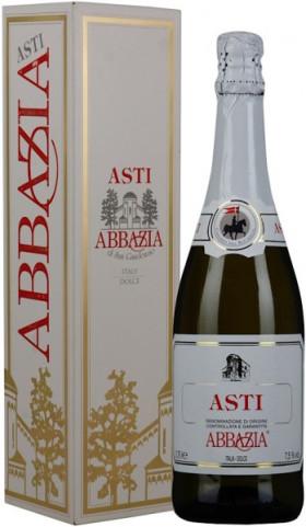 """Игристое вино """"Abbazia"""" Asti Spumante DOCG, gift box"""