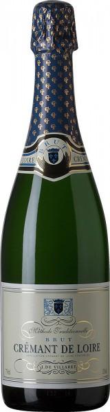 """Игристое вино """"J. de Villaret"""" Brut, Cremant de Loire AOC"""
