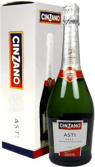 Игристое вино Cinzano, Asti Spumante DOCG, gift box with 2 glasses