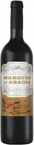 """Вино Bodegas El Cidacos, """"Marques de Abadia"""" Reserva, Rioja DOC, 2009"""