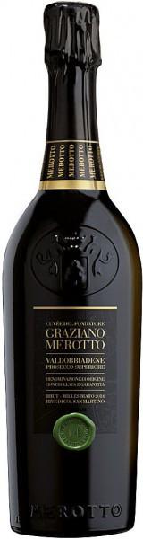 "Шампанское Merotto, ""Cuvee del Fondatore"", Valdobbiadene Prosecco Superiore DOCG, 2013, 1.5 л"