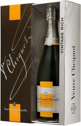 Шампанское Veuve Clicquot Rich Reserve, 2004, with gift box