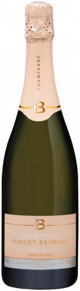 Шампанское Forget-Brimont, Brut Rose Premier Cru, Champagne AOC, 375 мл