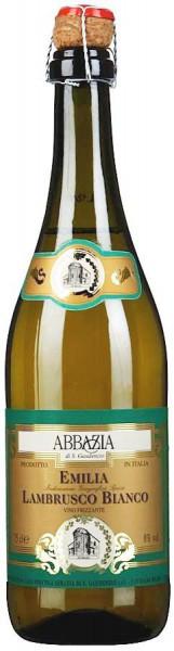 "Игристое вино ""Abbazia"" Lambrusco Bianco Frizzante, Emilia IGT"