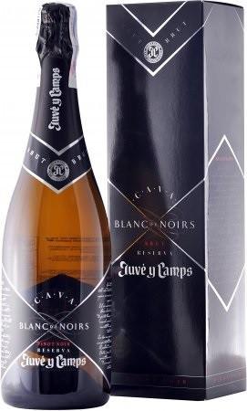 Игристое вино Juve y Camps, Cava Blanc de Noirs Reserva Brut, 2010, gift box