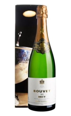Игристое вино Bouvet-Ladubay Brut 1851 gift box 0.75л