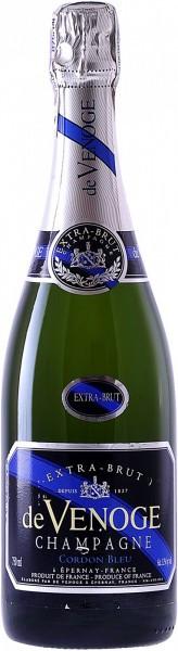 "Шампанское Champagne de Venoge, ""Cordon Bleu"" Extra Brut, Champagne AOC"