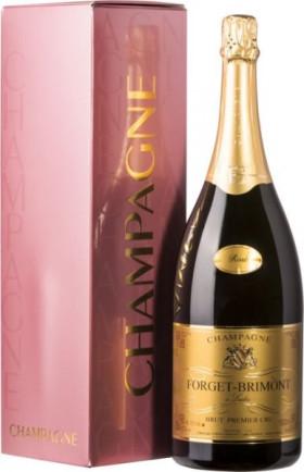 Шампанское Forget-Brimont, Brut Rose Premier Cru, Champagne AOC, gift box, 1.5 л