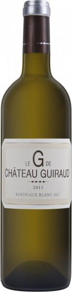 """Вино Le """"G"""" de Chateau Guiraud, Bordeaux Blanc Sec, 2011"""