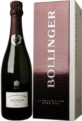 """Шампанское Bollinger, """"La Grande Annee"""" Rose Brut AOC, 2004, gift box"""