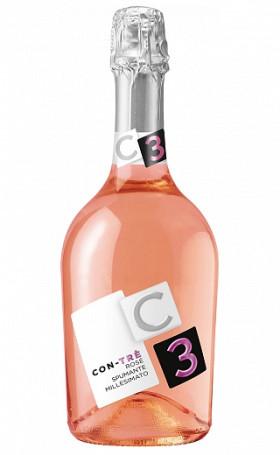 Игристое вино Contarini Con Tre Rose Spumante Millesimato Extra Dry 0.75л
