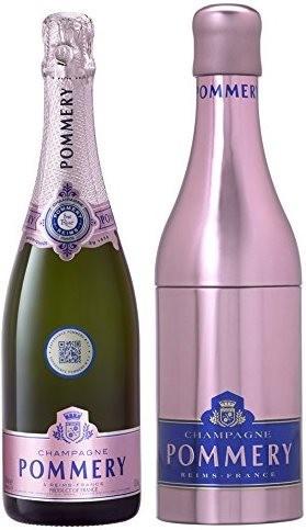 Шампанское Pommery, Brut Rose, Champagne AOC, metal box