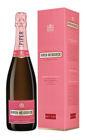 Шампанское Piper-Heidsieck Rose Brut Sauvage gift box 0.75л