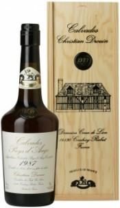 Кальвадос Coeur de Lion Calvados Pays d`Auge 1987, wooden box, 0.7 л