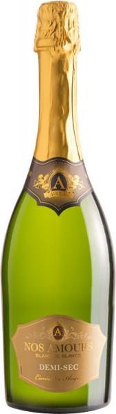 """Игристое вино Grands Chais de France, """"A Nos Amours"""" Demi-sec"""