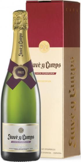 Игристое вино Juve y Camps, Cava Cinta Purpura Reserva Brut, gift box