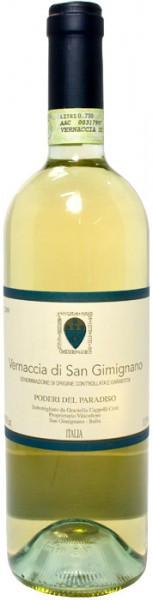 Вино Poderi del Paradiso, Vernaccia di San Gimignano, Toscana DOCG, 2014