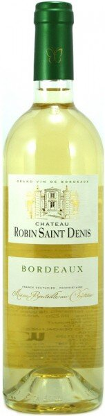 "Вино ""Chateau Robin Saint Denis"" Blanc, Bordeaux AOC, 2014"