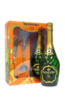 Асти Asti Mondoro with 2 glases 0.75л