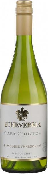 Вино Echeverria, Unwooded Chardonnay, 2013
